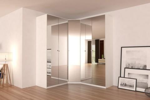 """Corner Wardrobe 91"""" with Swing Doors"""